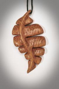 """Кулон из дерева """"Листочек абстрактный"""", кулон ручной работы"""