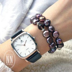 Браслети ручної роботи Фіолетові перли