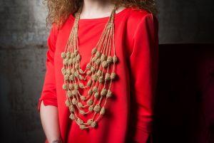 Рогаль Светлана Плетеные ожерелья из люрекса