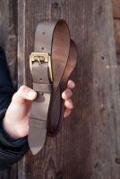 Ремень на долгие годы! Натуральная итальянская кожа, коричневый кожаный ремень 4см