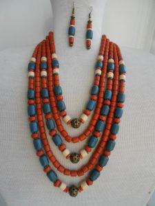 Ожерелье ручной работы Керамическое ожерелье