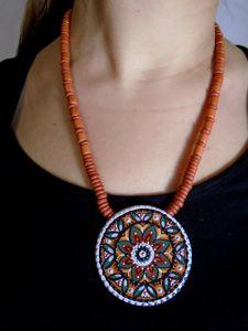 Ожерелья и колье ручной работы Цветочный мотив №2