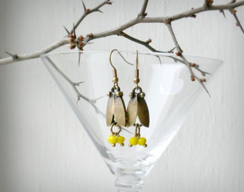 """Серьги """"Желтый тюльпан"""""""