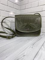 Кожаная сумка, кожаная сумка ручной работы, сумка через плечо, наплечная сумка, кожаная сумка оливковое, падорунок для нее