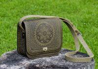 Кожаная сумка ручной работы ′Солнце Карпат′
