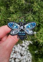 Брошь Голубая Пчелка