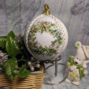 Декор для дома Новогодний декор с ручной вышивкой, новогодние игрушки