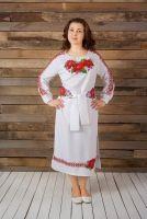 Платье с вышивкой бисером