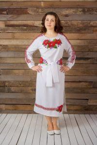 Платье вышиванка ручной работы Платье с вышивкой бисером