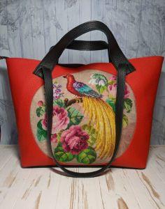 Сумки ручної роботи Сумка-шопер, шкіряна сумка з вишивкою