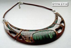 Ожерелья и колье ручной работы Украшение из американского ореха