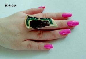 Кольца ручной работы Кольцо с янтарем