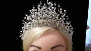 Весільні діадеми Шикарна корона для волосся