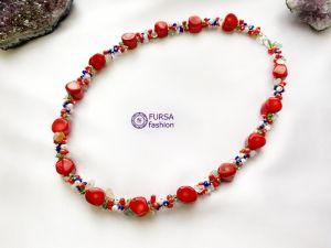 Ожерелье ручной работы Эксклюзивное ожерелье Вышивка