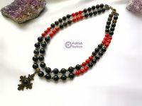 Эксклюзивное ожерелье Коралл + агат