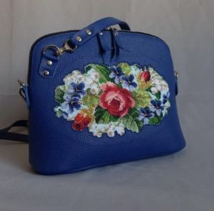 Повседневные женские сумки Кожаная женская сумка с вышивкой