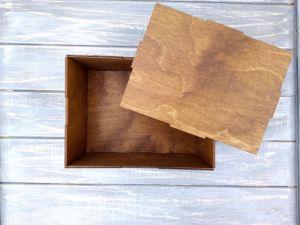 Вироби з дерева ручної роботи Дерев`яна подарункова коробка з вашими побажаннями, картинкою або логотипом.