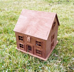 Изделия из дерева ручной работы Подарочная коробка виде домика. Свадебная казна, симейная копилка
