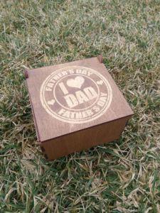 """Вироби з дерева ручної роботи Подарункова коробка """"Найкращий тато"""""""
