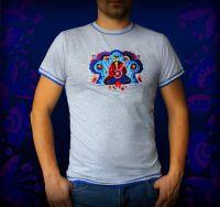 """Вышитая мужская футболка """"Казак Мамай"""""""