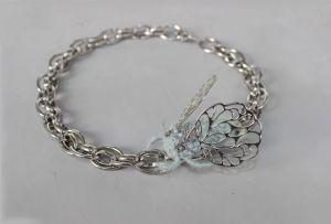 Швайковская Оксана Цепь серебрянная крупная с вышивкой жук колье ручной работы модный чокер