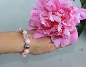 Розовый браслет Браслет из розового оникса