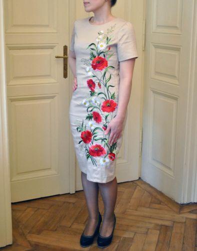 Женское вышитое платье ручной работы на Котону