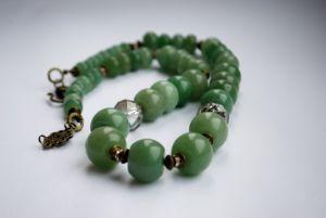 Ожерелье из нефрита Бусы из нефрита