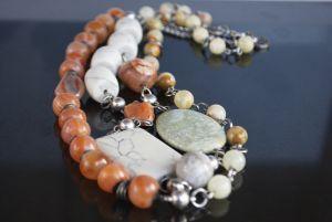 Ожерелье из оникса Длинные бусы ′Микс камней