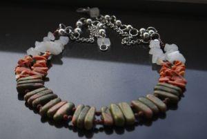 Ожерелье из коралла Этно ожерелье