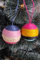Набор елочных игрушек Шары на елку ручной работы