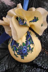 Разное Набор елочных игрушек 6шт  Шары на елку ручной работы
