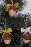 Набор из 4шт елочных игрушек, украшений Подвеска ручной работы для декора новогодней елки