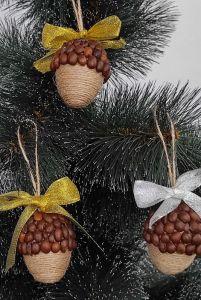Разное Набор из 4шт елочных игрушек, украшений Подвеска ручной работы для декора новогодней елки