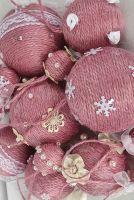 Шары на елку набор из 13 шт Розовые шары на елку