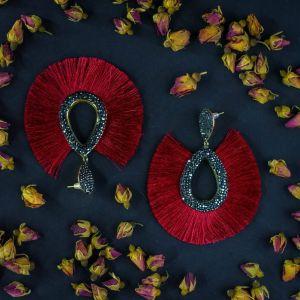 """Сережки ручної роботи Дизайнерські сережки """"Полум'я"""""""