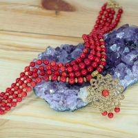 """Дизайнерское ожерелье """"Коралловый цветок"""""""