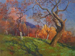 """Картины маслом """"Яблуневый сад"""""""