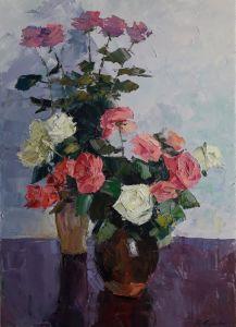 """Картины маслом """"Розы для любимой"""""""