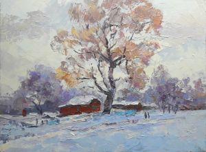 """Мальовані картини """"Зимова вулиця"""""""