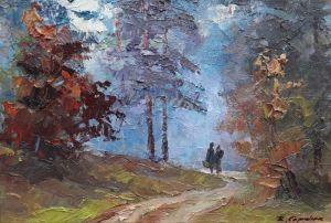 """Мальовані картини """"Дорога в лісі"""""""