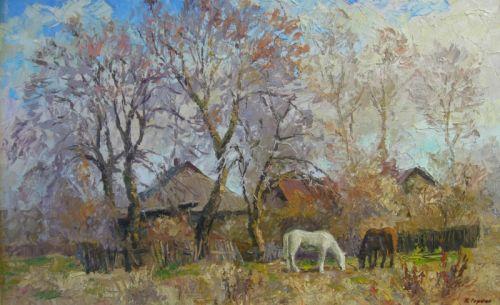 """""""Пейзаж с лошадьми"""""""