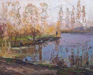 """Мальовані картини """"Осінь на озері"""""""