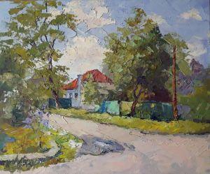 """Мальовані картини """"Будинок з червоним дахом 2"""""""