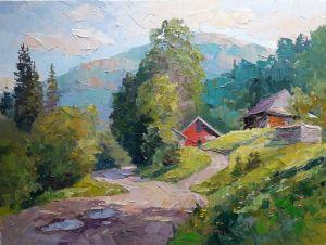 """Мальовані картини """"Десь у горах"""""""