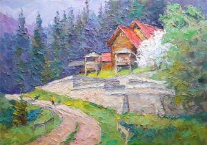 """Мальовані картини """"Весна в Карпатах"""""""