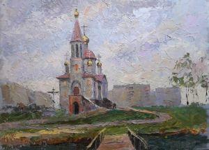 """Мальовані картини """"Храм біля річки"""""""