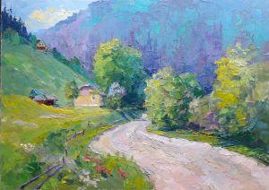"""Мальовані картини """"Дорога в горах"""""""
