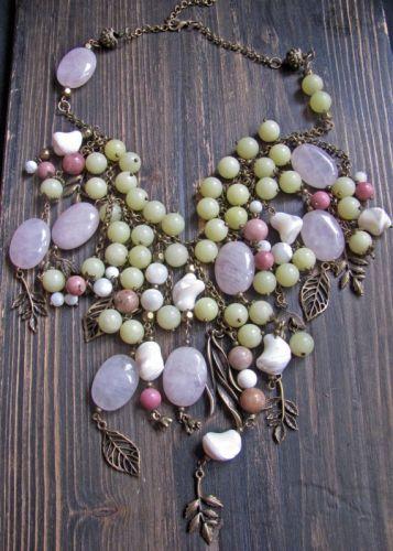 """Ожерелье в стиле бохо """"Яблоневый сад"""" - изображение 1"""