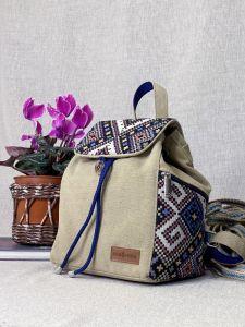 Рюкзак ручной работы Рюкзак средний цвет песок с декором орнамент